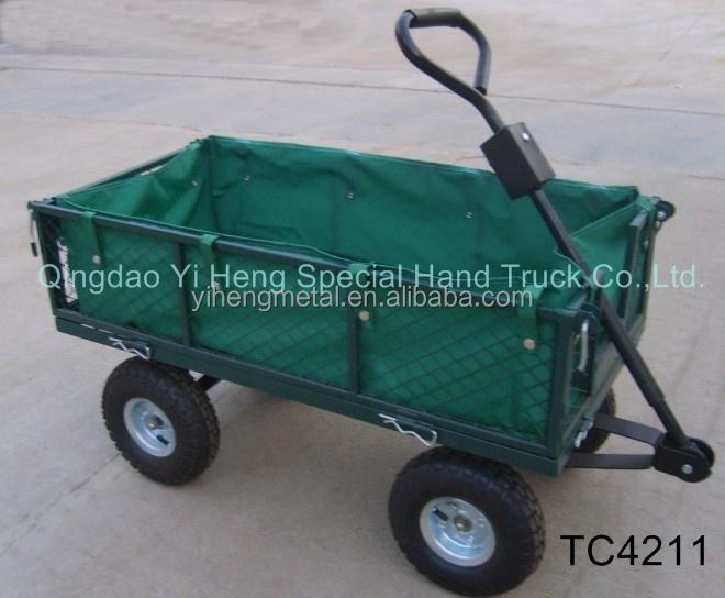 Four wheel all terrain garden utility beach trolley carts for Garden tools for 4 wheeler