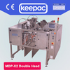 Keepac double head mini doypack packing machine for big size premade pouch, large performed pouch in high speed