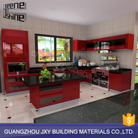 Luxury style easy installing fancy modern hotel commercial restaurant kitchen cabinets