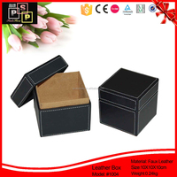 Hello Pink Luxury Black 2 pieces faux leather mini suitcase gift box