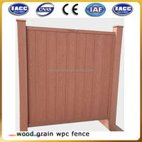 Outdoor wpc security fence, private wood plastic composite /wpc garden fence