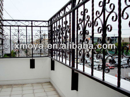 Powder coated outdoor wrought iron porch railings