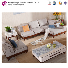 Sectional fabric furniture living room sets modern modular sofa
