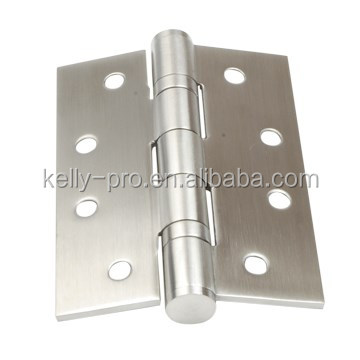 5 Knuckle Plain / Ball Bearing Commercial Standard Door Hinge, Full Mortise Template or Zig-Zag Hole, Stainless Steel