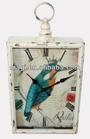 Home decorative metal antique chinese clock