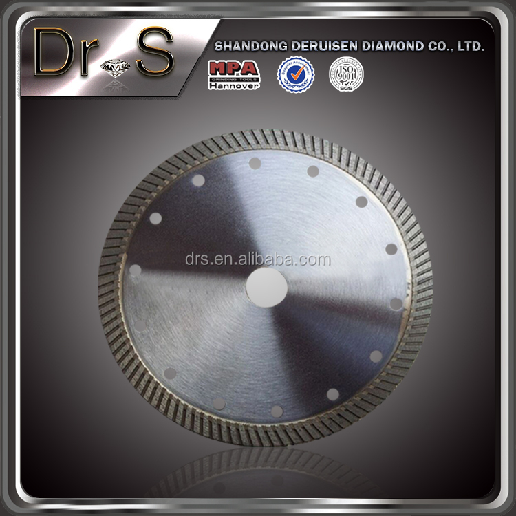 "5"" Dry Cutting Turbo Rim Diamond Saw Blade for ceramic tiles"