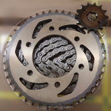 OEM Indonesia motorcycle parts chain and sprocket wheel set