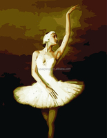 Wall hanging sex ballet girl dancing decorative oil painting