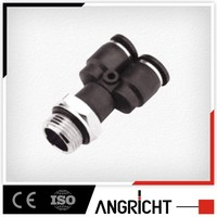 A142 swivel y shape hose adaptor male threaded plastic mechanical tube connector with O ring