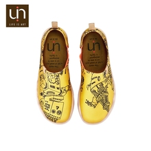 UIN Little Robot fashion yellow printing man overseas shoes