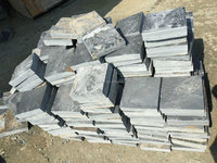 Cheapest cube stone Top natural slate cobble stone paver