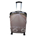 ABS multi-directional spinner carry on luggage/hard-shell suitcase/pc printing luggage