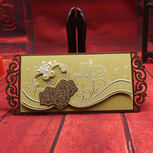 2016 Unique Luxury laser cut wedding invitations | wooden invitations | wooden wedding cards