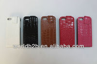 Flip Crocodile Leather Case Cover Pouch Protective Skin for Iphone 5