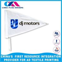 custom party display triangle pennant flag with rope