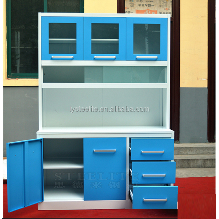 Wholesale Durable Modular Cheap Metal Kitchen Cabinet/ stainless steel sink cabinet