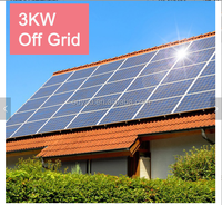 Home or office use electricity supply off grid power solar system 3kw with battery