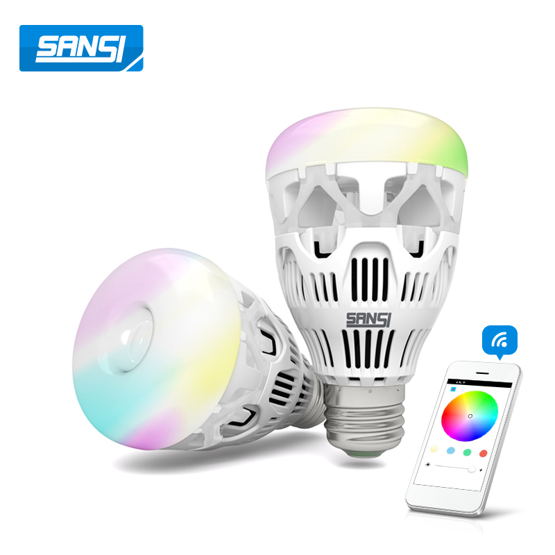 WIFI RGB Lighting Colorful Dimming LED Bulbs