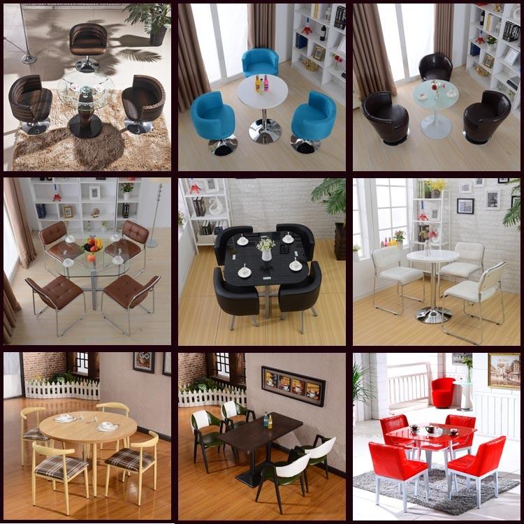 중국어 공장 식당 세트 싼 식당 taable 세트 6 의자-커피 테이블 ...