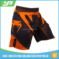 Custom printed sublimated fight shorts mma board shorts wholesale