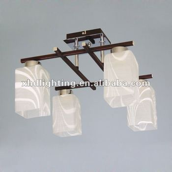 Modern glass ceiling ligh 4 heads pendant lighting fixture 9306-4