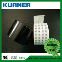 Polypropylene blank self adhesive labels material