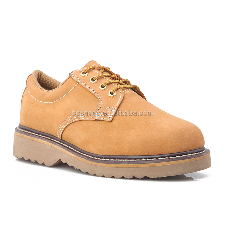 high cut work shoes/man boots for oil field/leather brown goody safety boots
