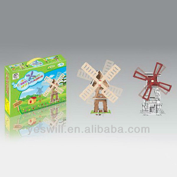 Solar toy, solar powered windmill toy