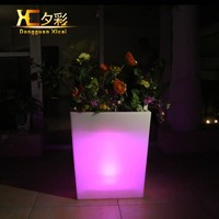 Large Plastic Floor Vase Luminous Decorative Flower Pot For Home Garden