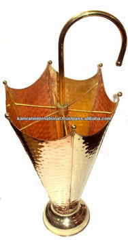 Brass & Copper umbrella stand, metal umbrella stand, umbrella holder, portable umbrella stand,