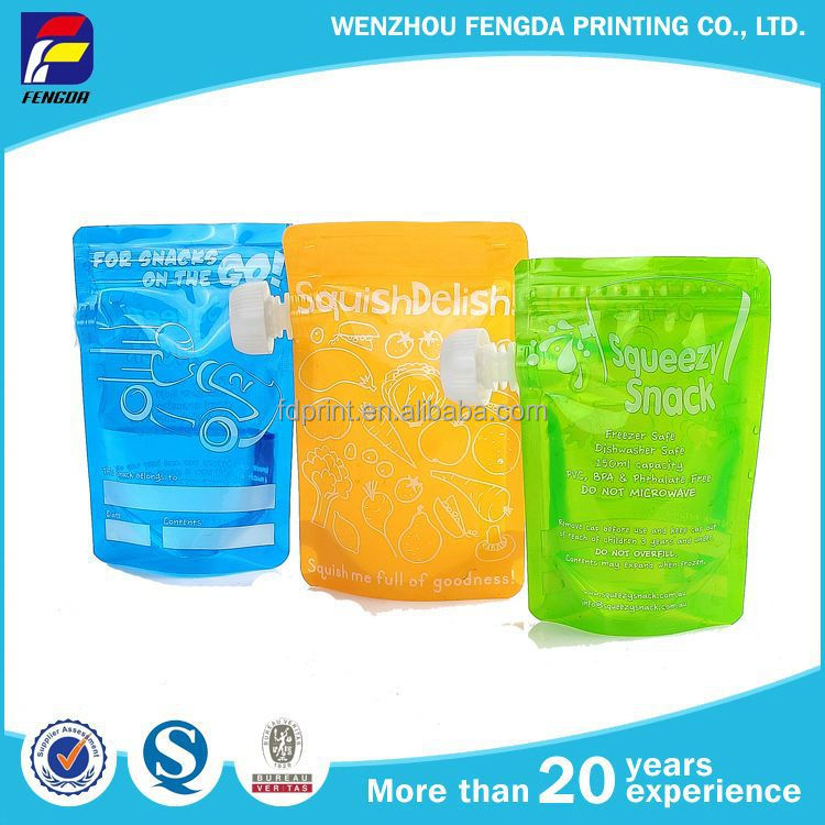 New Type Useful Stand Up Plastic Bag With Spout