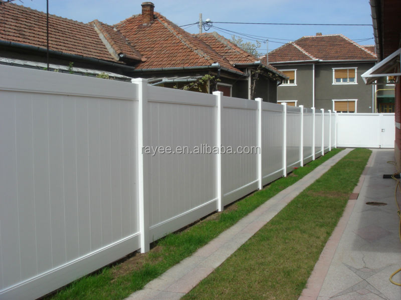 White Vinyl Privacy Fence Panels/ cheap pvc fence, pvc paneles de la cerca portatil