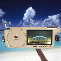 T2W 7inch sun visor Car DVD player with USB / SD / FM