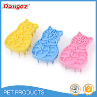 factory price cat cleaning bath brush cat shaped soft rubber shower brush,rubber cat brush with 2 hours replied