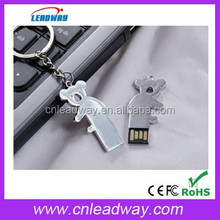 koala usb pendrive bulk cheap metal usb flash drive with key chain and free preload 128MB to 64GB