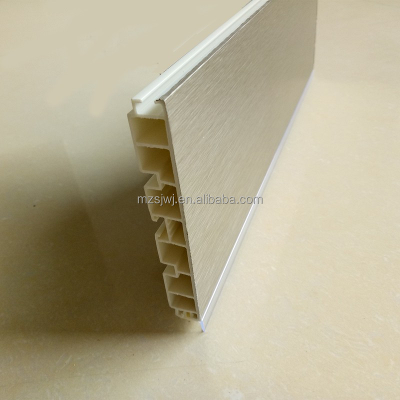 80mm~150mm aluminum foilkitchen cabinet plastic skirting board