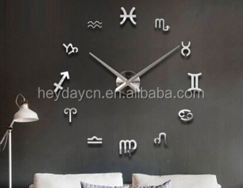 modern house decoration DIY oracle-bone inscriptions wall clock stickers(HD-1002C)