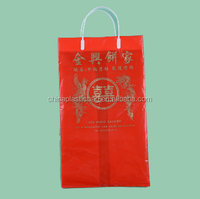 red cheap 100% new pe custom shopping plastic bags from china exporter