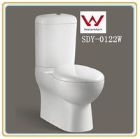 Sanitary ware bathroom wc toilet in Australia two piece toilet bowl washdown watermark toilet