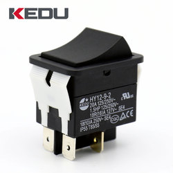 KEDU HY12-9-2 High Quality 4 Pins 20A ON OFF Spring Loaded Rocker Switch With UL TUV CE CQC