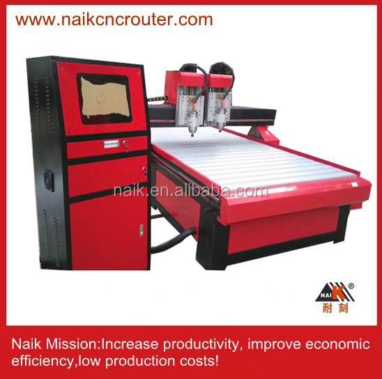 Wood Engraving Machine / two heads CNC Router 1325 Shen manufacturer