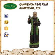 Wholesale resin custom kind Padre pio religious statues