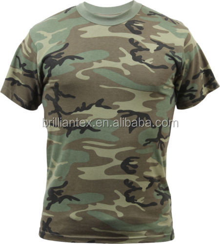 2016 wholesale custom design camouflage clothing cotton for Camouflage t shirt design