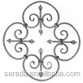 Qingdao hammered surface wrought iron rosettes and scrolls