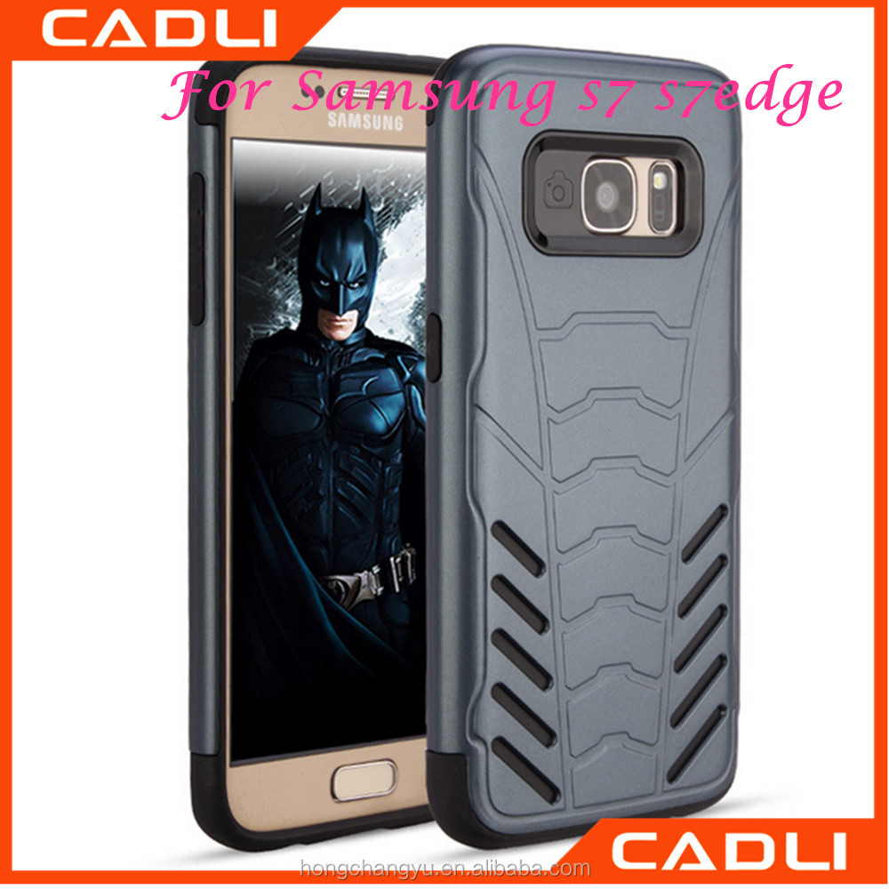 2017 New Cool Bat Armor Phone Case Hybrid PC TPU Back Cover for Samsung s7 s7 edge
