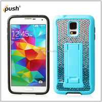 Handmade full bling diamond case with holder for Samsung galaxy s5