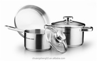 Magnetic kitchenware induction stainless steel cookware set design kitchenware