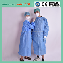 FDA certificated disposable SMS ppe sterile gown