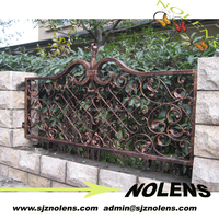 Ornamental Used Wrought Iron Fencing for sale/galvanized wrought iron fence panels/used wrought iron fence