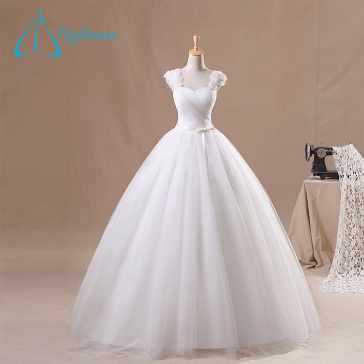 Ball Gown Sweetheart Sleeveless Pleat Real Pictures of Wedding Dress